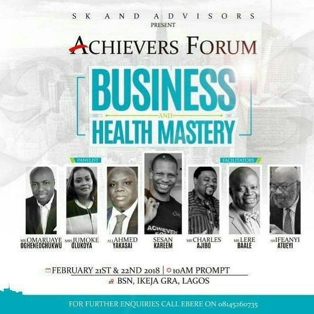 Achievers Forum February, 2018