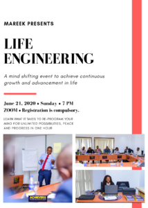 LIFE ENGINEERING CLASS | JUNE 21,2020 | ZOOM | 7PM