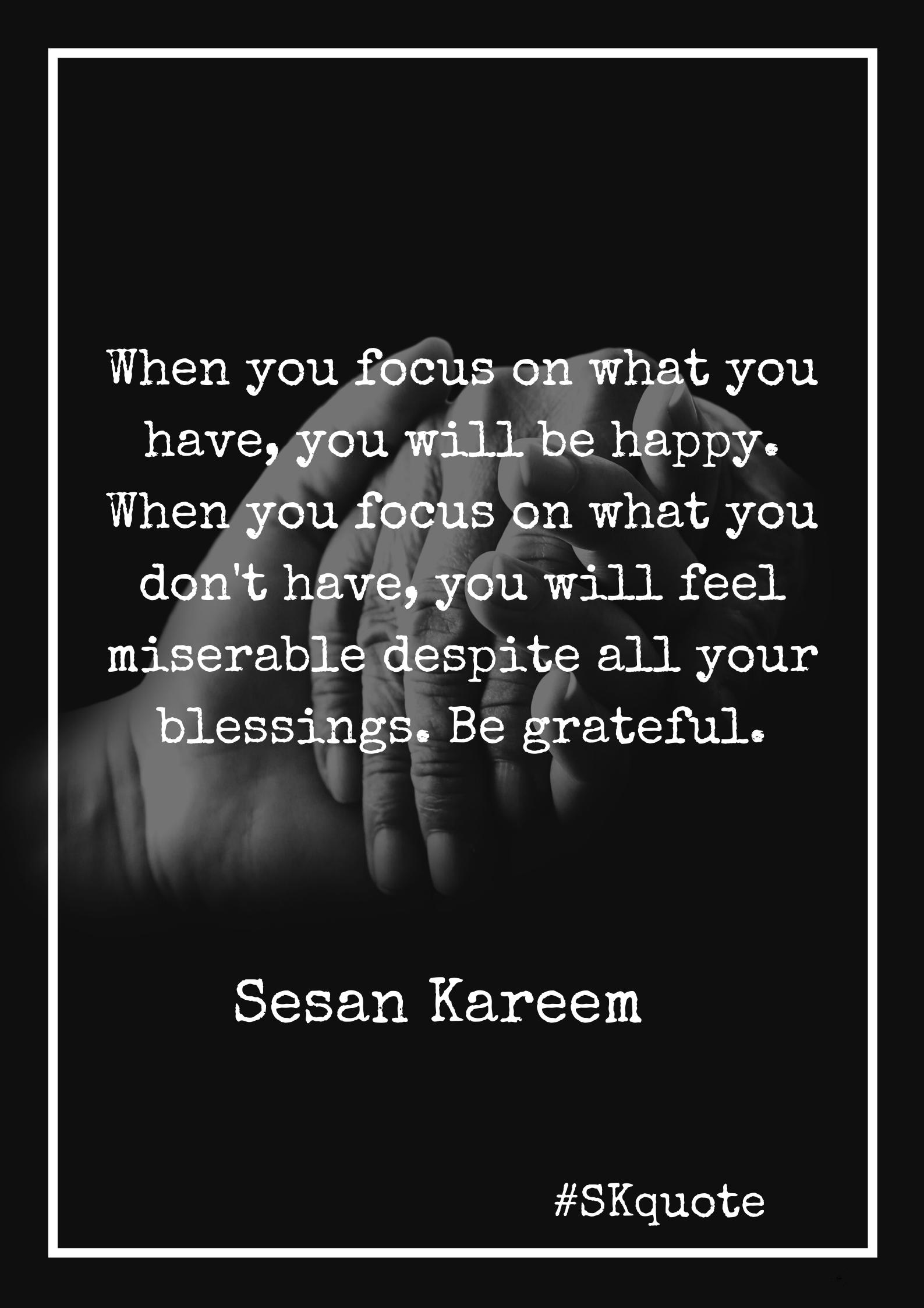 Sesan Kareem quote
